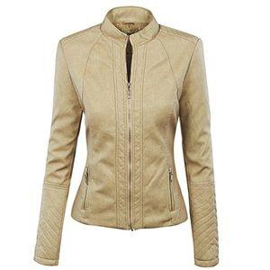 Jackets & Blazers - Women's faux leather moto jacket